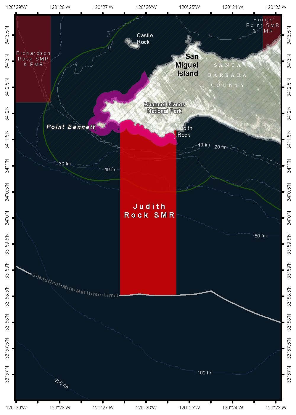 Southern California Marine Protected Areas - Map of san nicolas island and us