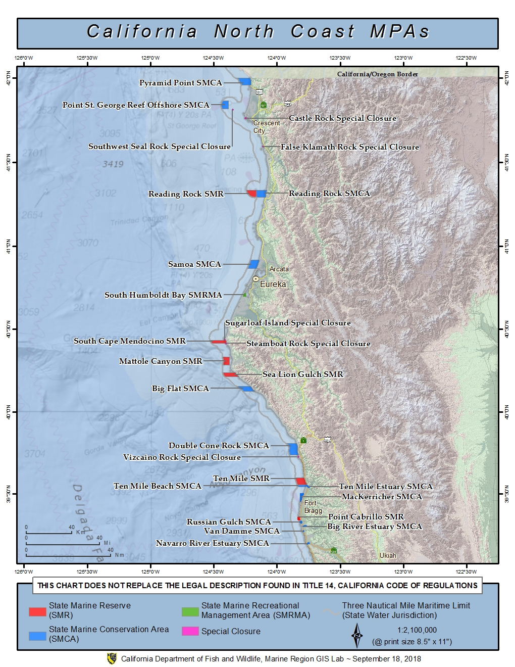 Northern California Marine Protected Areas - Map of northern california